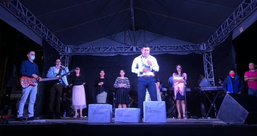 El evento fue realizado en las inmediaciones del Parque Central de Estelí y organizado por el Consejo Nacional de Pastores Evangélicos de Nicaragua.