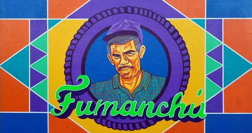 """Un homenaje. El rostro de """"Fumanchú"""" quedó plasmado en un colorido mural ubicado en el barrio José Benito Escobar de Estelí."""