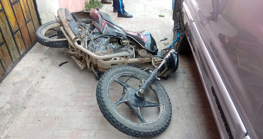Según testigos, el motociclista conducía a exceso de velocidad.