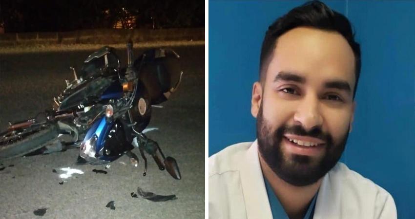El joven doctor Pedro Rafael Osorio lucha por su vida después de haber impactado su moto contra una camioneta en la salida norte de Estelí.