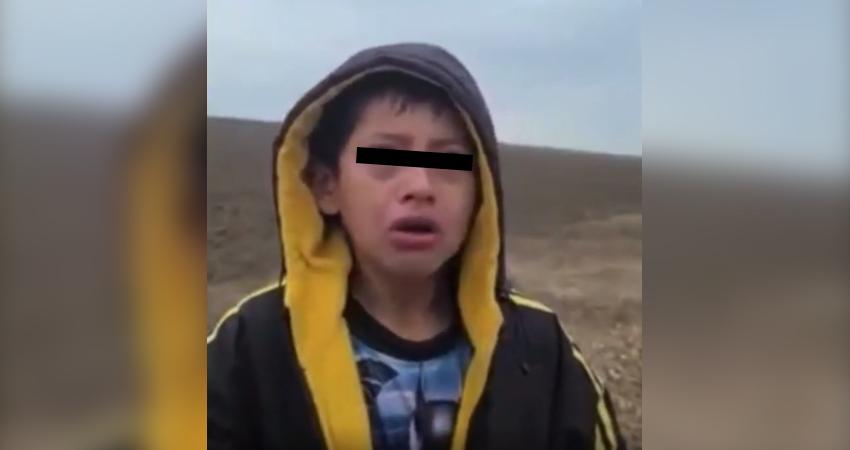 El menor nicaragüense fue encontrado sin comida ni equipaje por un policía fronterizo