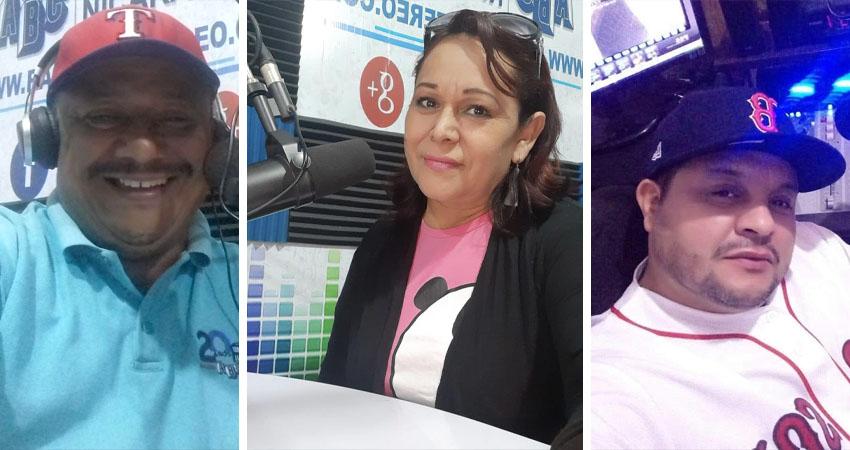 Omar Moya, Hirtcia Parrilla y Eddy Ramírez, locutores de Radio ABC Stereo.