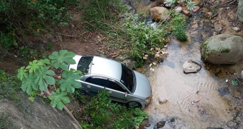 Se llevaron el susto de sus vidas. Seis personas, entre ellas una niña, viajaban en el vehículo cuando ocurrió el accidente que afortunadamente sólo dejó daños materiales.