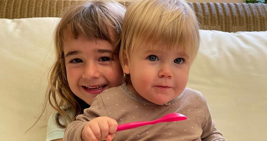 Las hermanas Anna y Olivia, secuestradas por su papá. Foto: Cortesía