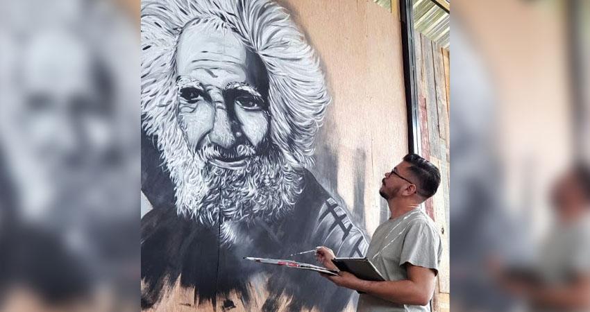 La obra es realizada por Arvin Ariel Hidalgo. Foto: Cortesía/Radio ABC Stereo