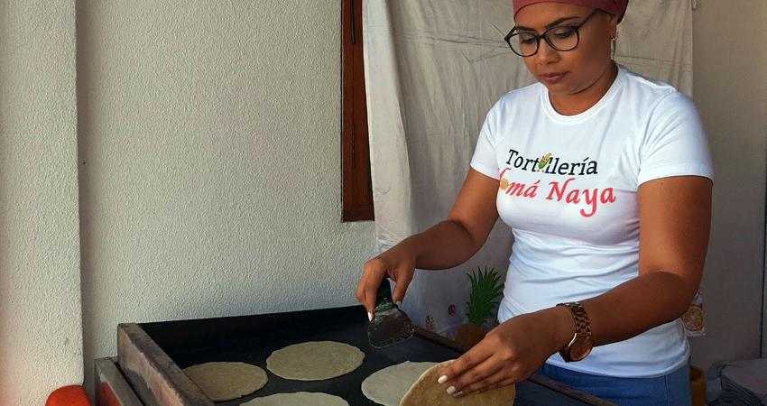 Sarima Sánchez, de Tortillería Mamá Naya. Foto: Famnuel Úbeda/Radio ABC Stereo