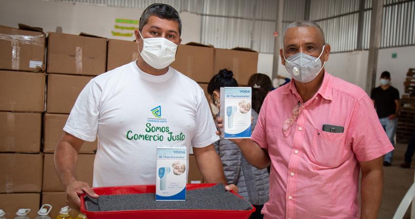 La donación se hizo efectiva a través de la Iniciativa de Emergencia COVID-19 de Comercio Justo. Foto: Cortesía/CLAC
