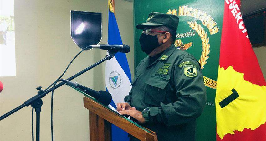 Coronel José Hilcías Rizo, jefe del Primer Comando Militar Regional. Foto: Alba Nubia Lira/Radio ABC Stereo