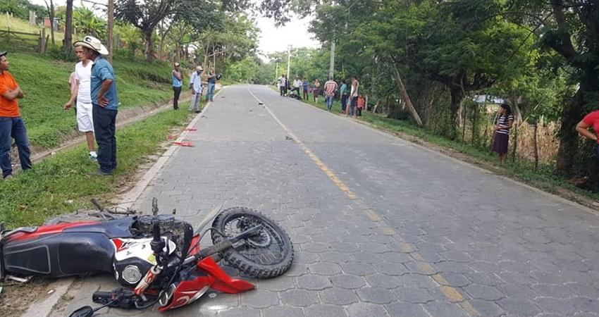 El accidente se produjo por una supuesta invasión de carril. Dos de los lesionados fueron trasladados al hospital de Ocotal.