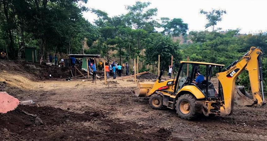 La construcción se ejecuta en la comunidad El Chamorro 3. Foto: Cortesía/Radio ABC Stereo