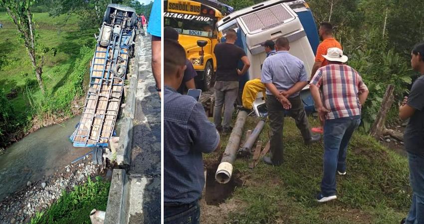 El casco urbano de este municipio se quedó sin agua potable después que un camión dañara la tubería principal. Además, el ayudante del vehículo resultó lesionado.