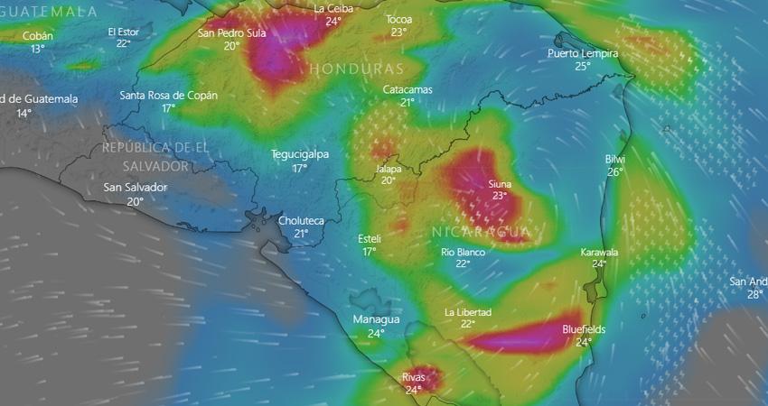 Después que el Huracán Eta tocara suelo nicaragüense en categoría 4, se degradó a categoría 2 y esta mañana pasó a ser tormenta tropical con dirección a Honduras.